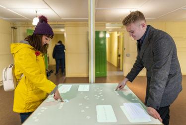 Interactive displays inside Hut 8